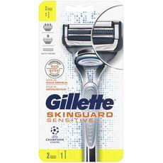 GILLETTE Skinguard Sensitive rasoirs avec recharges 2 recharges 1 rasoir