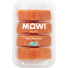 Mowi Pure Pavé royal de saumon x4 -460g 4 portions 460g