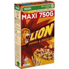 LION Céréales au caramel et chocolat 750g