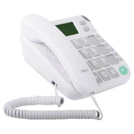 QILIVE Téléphone filaire - Q4515 - Blanc