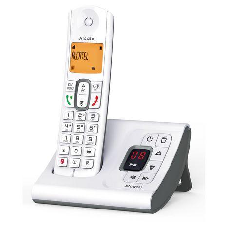 ALCATEL Téléphone sans fil - F630 Voice Solo - Répondeur - Gris