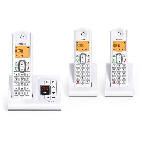 ALCATEL Téléphone sans fil - F630 Voice Trio - Répondeur - Gris
