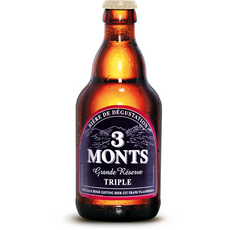 3 MONTS Bière Grande Réserve triple 9.5% bouteille 33cl