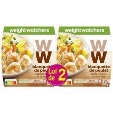 WEIGHT WATCHERS Blanquette de poulet aux légumes et riz 2x300g