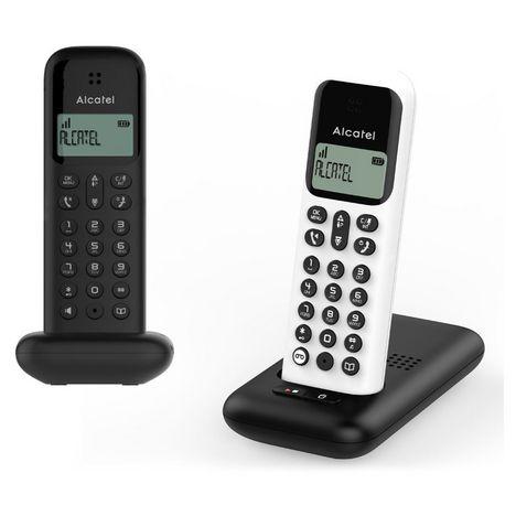 ALCATEL Téléphone sans fil - D285 Voice Duo - Répondeur - Noir/Blanc
