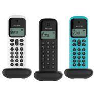 ALCATEL Téléphone sans fil - D285 Voice Trio - Répondeur - Noir/Blanc/Turquoise