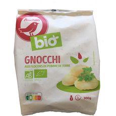 AUCHAN BIO Gnocchi aux flocons de pomme de terre 2 portions 300g