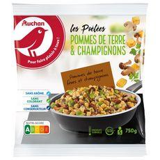 AUCHAN Poêlée pommes de terre et champignons 5 portions 750g