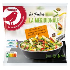 AUCHAN Poêlée méridionale 5 portions 750g