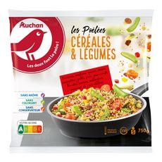 AUCHAN Poêlée de céréales et légumes 5 portions 750g