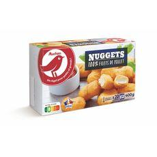 AUCHAN Nuggets de poulet 20 pièces 400g