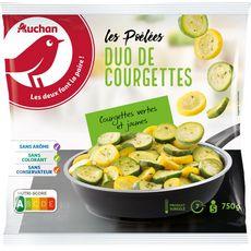AUCHAN Poêlée duo de courgettes 5 portions 750g