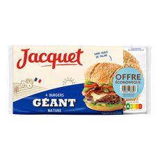 JACQUET Pain spécial pour hamburger géant nature 4 pièces 330g