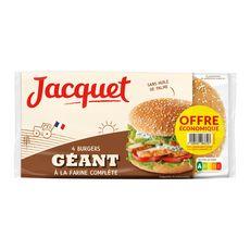 JACQUET Pain spécial pour hamburger géant complet 4 pièces 330g