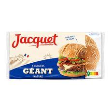 JACQUET Burgers géants nature sans huile de palme x4 330g