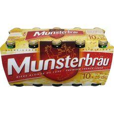MUNSTERBRAU Bière blonde 4% bouteille 10x25cl
