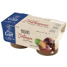 FERME COLLET Yaourt au lait entier sur lit de châtaigne 2x150g