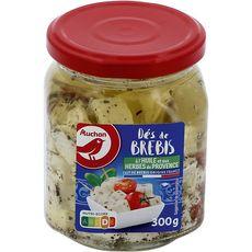 AUCHAN Dés de fromage de brebis à l'huile de tournesol et aux herbes de Provence 300g