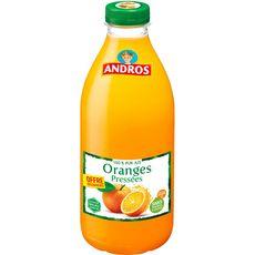 ANDROS Jus d'oranges pressées sans sucres ajoutés 1l