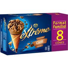 EXTREME Cônes glacés au café 8 pièces 568g