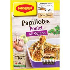 MAGGI Papillotes poulet, ail et oignon sans colorant 36g