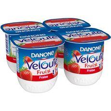 VELOUTE FRUIX Danone Velouté fruix yaourt brassé fraise  4x125g 4x125g