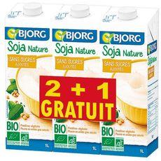 BJORG Bjorg soja vanille calcium bio 2l +1l offert