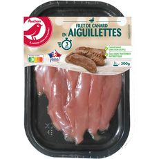 AUCHAN Filet de canard en aiguillettes 200g