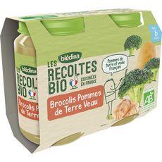 Blédina BLEDINA Blédina Petit pot brocolis pommes de terre et veau bio dès 6 mois 2x200g