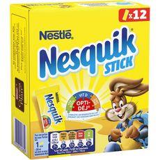 NESQUIK Chocolat en poudre en sticks individuels 20 sticks 162g