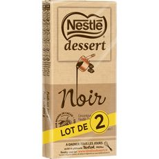 NESTLE DESSERT Tablette de chocolat noir pâtissier 2 pièces 2x205g