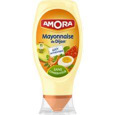 AMORA Mayonnaise de Dijon sans conservateur œufs de plein air en squeeze top down 415g