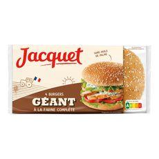 JACQUET Burgers géants à la farine complète x4 330g
