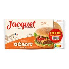 JACQUET Pain spécial burger géant brioché 4 pièces 300g