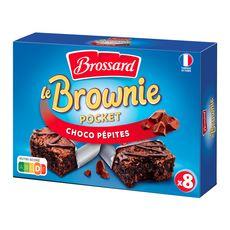 BROSSARD Brownie choco pépites, sachets individuels 8 gâteaux 240g