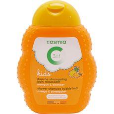 Cosmia Gel douche enfants corps bain cheveux mangue ananas 250ml