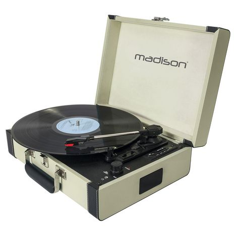 MADISON Malette Platine vinyle Mad-Retrocase-Cr - Crème