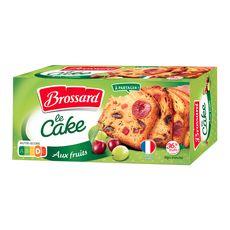 BROSSARD Cake aux fruits prétranché 300g