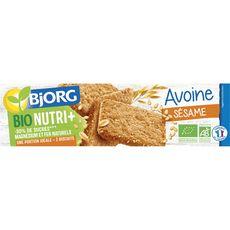 Bjorg BJORG Bjorg Bio Nutri+ Biscuits à l'avoine et aux graines de sésame 130g