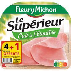 FLEURY MICHON Jambon blanc le supérieur 4 tranches+1 offerte 175g