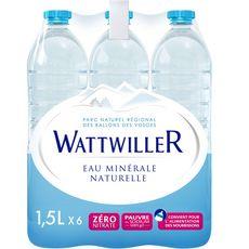 WATTWILLER Eau minérale naturelle plate bouteilles 6x1,5l