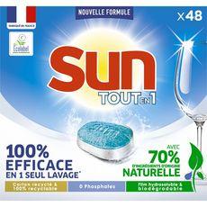 Sun Pastilles pour lave-vaisselle tout en 1 standard x48  -0,84kg
