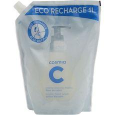 COSMIA Recharge savon liquide pour les mains fleur coton 1l