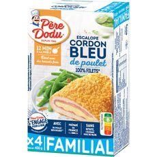 PERE DODU Escalope cordon bleu de poulet 4 pièces 400g