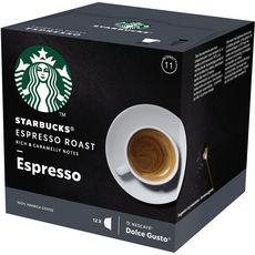STARBUCKS Capsules de café espresso roast compatibles Dolce Gusto 12 capsules 66g