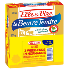 Elle & Vire Beurre tendre doux 2x250g