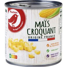 AUCHAN Maïs croquant sans résidu de pesticides sans OGM 285g