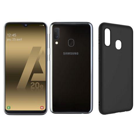 SAMSUNG Smartphone GALAXY A20e 32 Go 5.8 pouces Noir 4G Double port Nano SIM et Coque noire