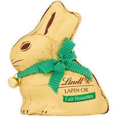 LINDT Lapin Or chocolat au lait et noisettes  100g