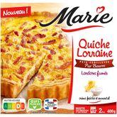 Marie Marie Quiche Lorraine aux lardons fumés, crème fraîche et emmental 400g